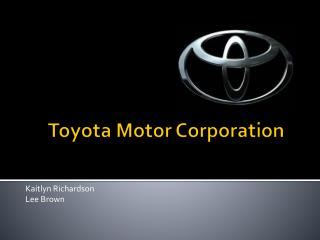 Ppt Best In France Toyota Motor Corporation Powerpoint
