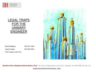 LEGAL TRAPS FOR THE UNWARY ENGINEER