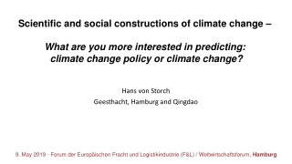 Brief Presentation on Climate Change: Basic Concepts  science, causes and consequences