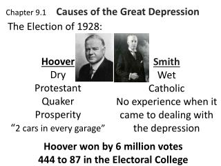 Chapter 9.1      Causes of the Great Depression
