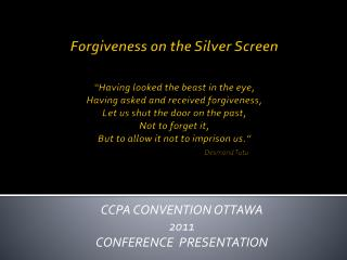CCPA CONVENTION OTTAWA 2011 CONFERENCE  PRESENTATION