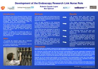Development of the Endoscopy Research Link Nurse Role