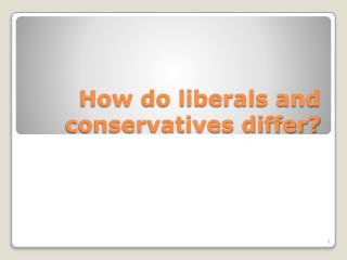 How do liberals and conservatives differ?