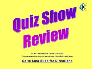 Quiz Show  Review