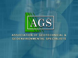The AGS  Contaminated Land Working Group