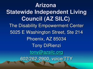 Arizona  Statewide Independent Living Council (AZ SILC)