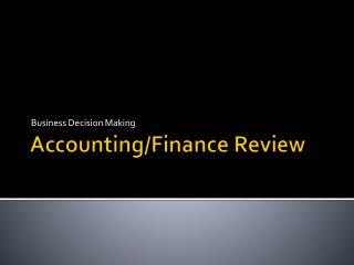 Accounting/Finance Review