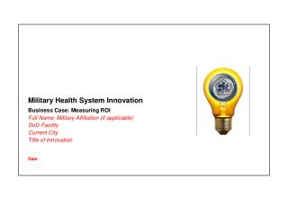 Military Health System Innovation