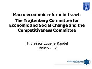 Macro economic reform in Israel: