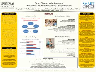 Smart Choice Health Insurance :  Pilot Test of the Health Insurance Literacy Initiative