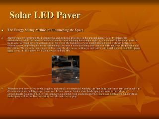 Using Solar Paver Lights Is The Innovative Way To Brighten U