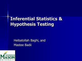 Inferential Statistics   Hypothesis Testing
