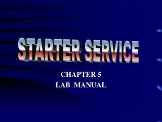 CHAPTER 5 LAB  MANUAL