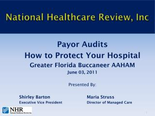 National Healthcare Review, Inc