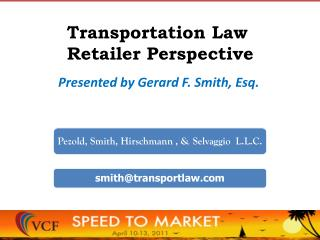 Transportation Law   Retailer Perspective