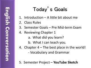 Today�s Goals