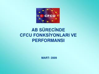 AB  SÜRECİNDE  CFCU FONKSİYONLARI VE PERFORMANSI