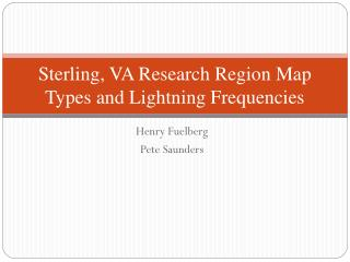 Sterling, VA Research Region Map Types and Lightning Frequencies