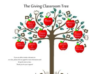 The Giving Classroom Tree