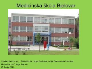 Medicinska škola Bjelovar