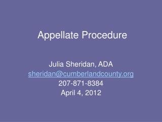 Appellate Procedure