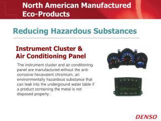 Reducing Hazardous Substances