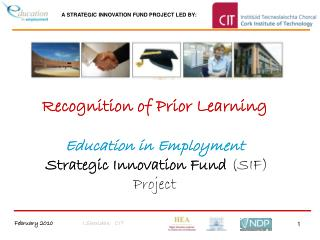 Recognition of Prior Learning Education in Employment Strategic Innovation Fund  (SIF) Project