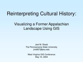 Reinterpreting Cultural History: