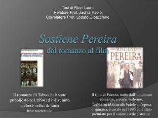 Sostiene Pereira dal romanzo al film