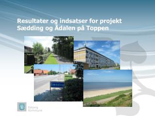 Resultater og indsatser for projekt Sædding og Ådalen på Toppen