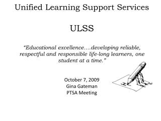 ULSS DEPARTMENT who we are…