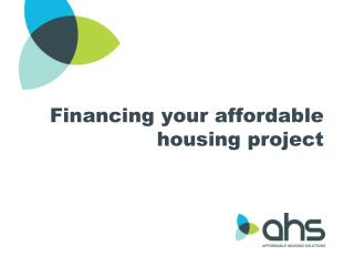 Financing your affordable housing project