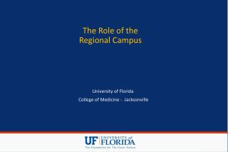 The Role of the Regional Campus