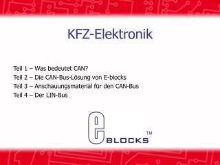 KFZ-Elektronik