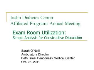 Joslin Diabetes Center Affiliated Programs Annual Meeting