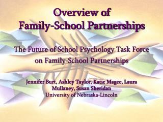 Why Family-School Partnerships?