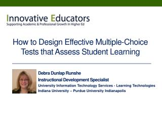 How to Design Effective Multiple-Choice Tests that Assess Student Learning