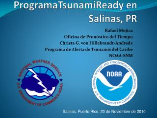 ProgramaTsunamiReady  en Salinas, PR