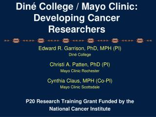 Din �  College / Mayo Clinic: Developing Cancer Researchers