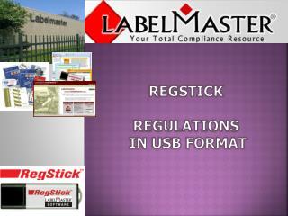 regstick Regulations  in USB Format