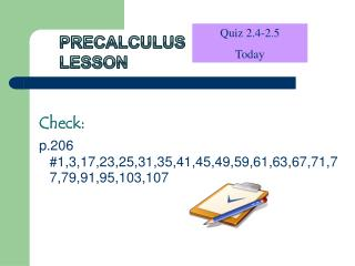 Precalculus Lesson