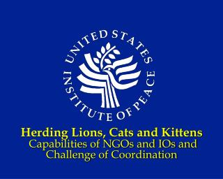 Herding Lions, Cats and Kittens  Capabilities of NGOs and IOs and Challenge of Coordination