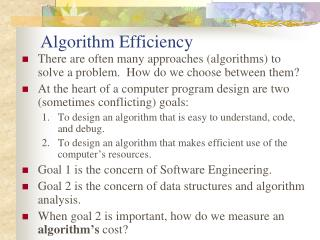 Algorithm Efficiency