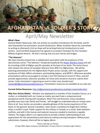 AFGHANISTAN: A SOLDIER'S STORY