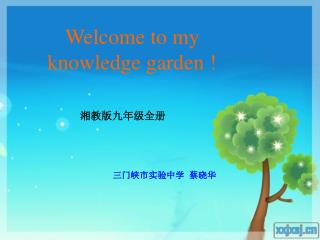 Welcome to my knowledge garden !