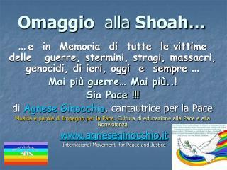 Omaggio   alla  Shoah…