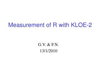 Measurement of R with KLOE-2