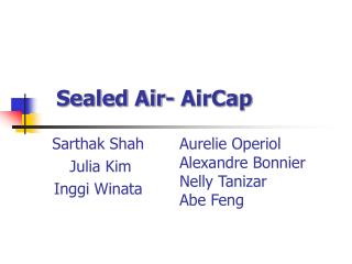 Sealed Air- AirCap
