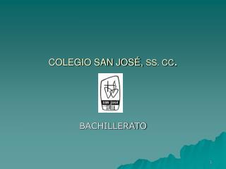 COLEGIO SAN JOSÉ,  SS. CC .