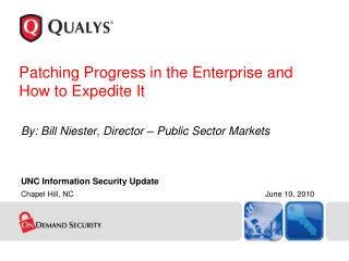 Patching Progress in the Enterprise and  How to Expedite It